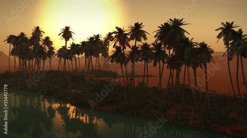 (1273C) Adventure Sahara Desert Oasis Sunset Series