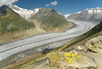 Aletch glacier in Switzerland