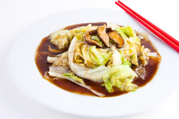 Chinese lettuce with Oyster Sauce1