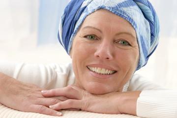 Portrait d'une femme en convalescence