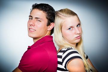 Mann und Frau im Konflikt