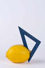 A lemon and square