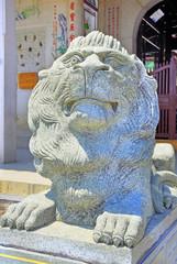 China Xiamen Nanputuo temple lion