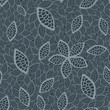 Seamless grey leaves wallpaper