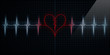 Red Broken Heart Monitor