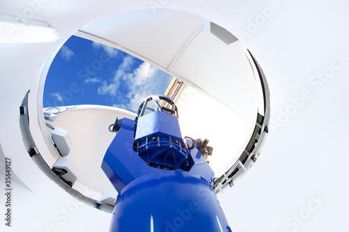 Fototapeta astronomical observatory telescope indoor