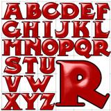 abc alphabet background midland rail design poster
