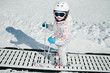 Skiing - little skier in ski school