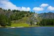 Mountain lake in Chemal