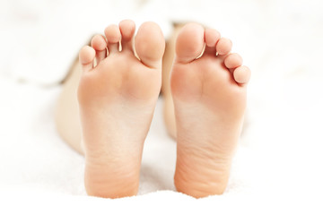 Bare relaxed feet