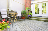 Fototapety Wooden deck at home