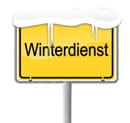 Ortsschild Winterdienst