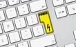 power flash icon - yellow button - white keyboard