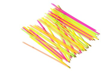 straws (white background)