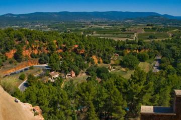 terra d'ocra a Roussillon,Valchiusa