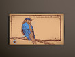 Business/Calling/Visiting Chipboard Card. Bird