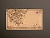 Business/Calling/Visiting Chipboard Card.Abstract poster