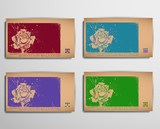 Business/Calling/Visiting Chipboard Card. Rose poster