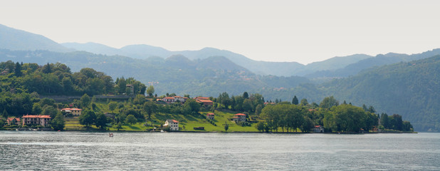 Panoramic view on lake Orta