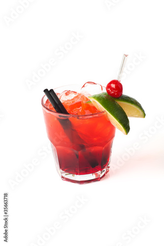Coctail with decoration