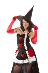sexy girl in Halloween witch