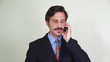Businessman talking on mobile cell phone