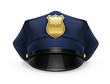 police peaked cap with cockade - 35668136