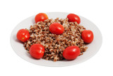 Buckwheat cereal with tomatoes