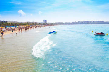 Salou beach in Tarragona Catalonia Spain