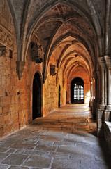 Cloister of Monastery of Santa Maria de Poblet, Spain