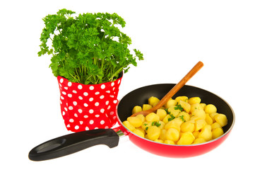 baking new potatoes with parsley
