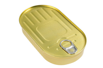 Metal can with a ring for opening