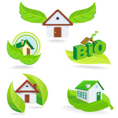 New BIO Green Houses ICONS and Symbols