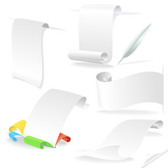 White paper letters and traditional message styles