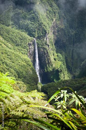 Poster Cascade du Trou de Fer - Ile de La Réunion