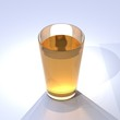 Apple juice in a glass / Apfelsaft