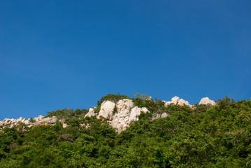 Rock mountain in the sky