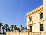 Salou Tarragona beach boulevard houses poster
