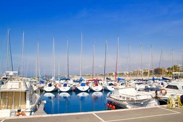 blue marina port in Salou Tarragona