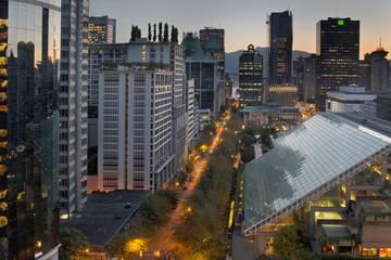 Vancouver BC Cityscape at Sunrise