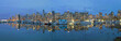 Vancouver BC Downtown Harbor Skyline at Blue Hour