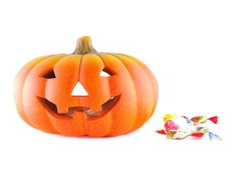Halloween y caramelos.