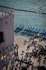 View of doge's palace from the campanile tower