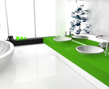 Luxurious Green Bathroom