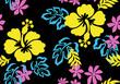 hibiscus seamless fabric textile