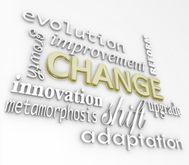 Change 3D Words Evolve Improve Grow for Success