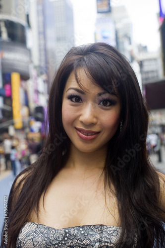 Lovely Asian Face in the City