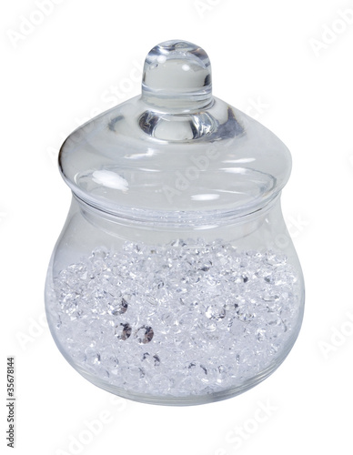 Apothecary Jar Full of Diamonds