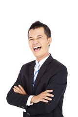 asian Businessman laughing