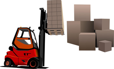 Lift truck. Forklift. Vector illustration